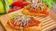 Фото рецепта Брускетта с осьминогами