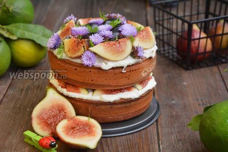 Торт с инжиром