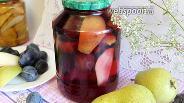 Фото рецепта Компот из груш и слив