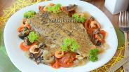 Фото рецепта Камбала запеченная в духовке с овощами