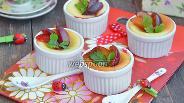 Фото рецепта Творожное суфле с алычой