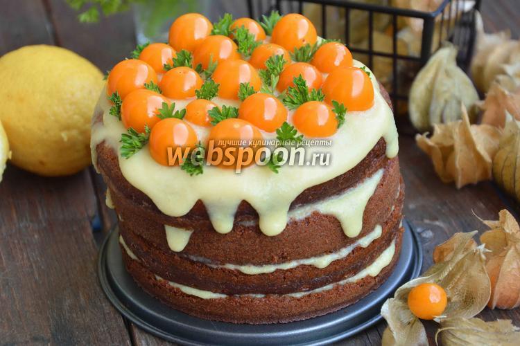 Фото Лимонный торт с физалисом