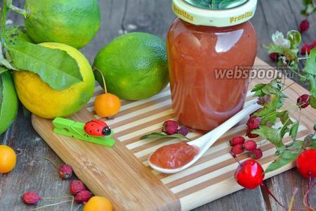 Яблочный джем с боярышником