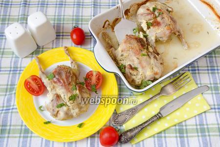 Перепёлки запечённые с чесноком и горчицей