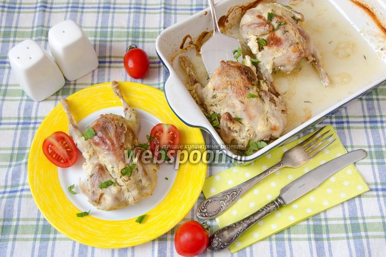 Фото Перепёлки запечённые с чесноком и горчицей