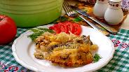 Фото рецепта Капуста запечённая в духовке с шампиньонами и курицей