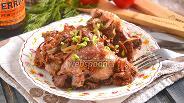 Фото рецепта Утиные окорочка с грибами с вустерским соусом