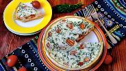Фото рецепта Заливной пирог с кижучем в мультиварке