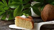 Фото рецепта Кокосовый бисквит в мультиварке