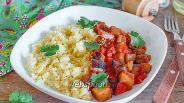 Фото рецепта Пшено с баклажановым карри
