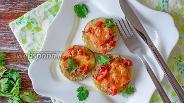 Фото рецепта Кабачки с помидорами и сыром в духовке