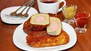 Фото рецепта Сосиски в картофельной шубе