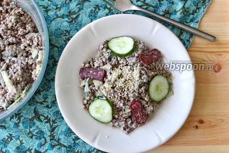 Салат из чечевицы и суджука