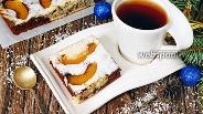 Фото рецепта Мраморный пирог с персиками