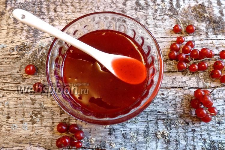 Фото Желе из красной смородины