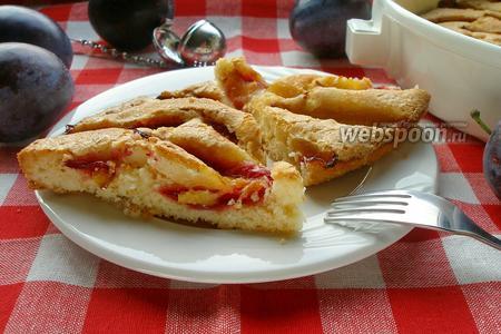 Сливочный пирог со сливами