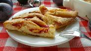 Фото рецепта Сливочный пирог со сливами