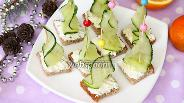Фото рецепта Огуречное канапе