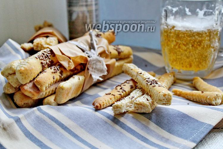 Фото Хлебные палочки с отрубями