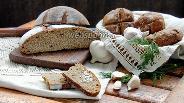 Фото рецепта Чёрный хлеб с чесноком