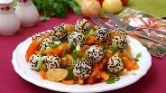 Фото рецепта Салат из физалиса с сырными шариками