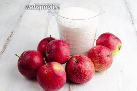 Накануне приготовить яблочный сироп. Для этого нужно взять яблоки плотные кислого сорта и сахар.