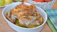 Фото рецепта Курица фаршированная перловкой