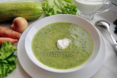 Густой суп-пюре с цветной капустой и овощами