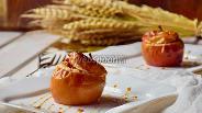 Фото рецепта Печёные яблоки с инжиром и орехами