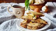 Фото рецепта Сэндвич с крабовым мясом, яйцом и шампиньонами