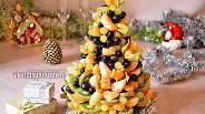 Фото рецепта Десерт «Фруктовая ёлка»