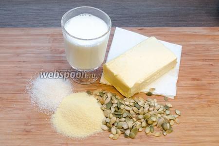 Для приготовления халвы желательно использовать наиболее качественные продукты, особенно сливочное масло. Вместо сахара можно взять сахарную пудру, чтоб она быстрее растворилась в молоке. Манную крупу нужно взять марки «Т» (написано на упаковке). «М» тоже подойдёт, но будет немного не то, хотя тоже вкусно.