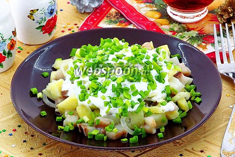 Фото Салат из картофеля и сельди