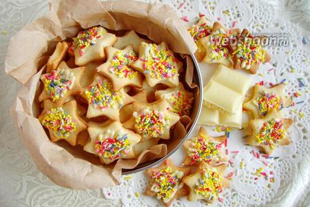 Печенье с конфетти и шоколадом