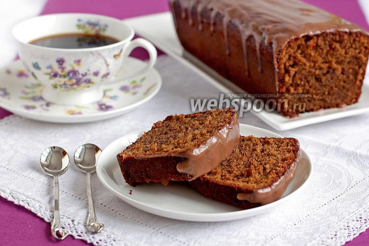 Фото Кофейный кекс с корично-сметанным соусом