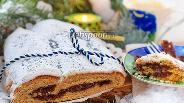 Фото рецепта Рождественский Штоллен с маком