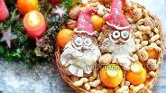 Фото рецепта Лебкухен Санта-Клаус с ореховой начинкой