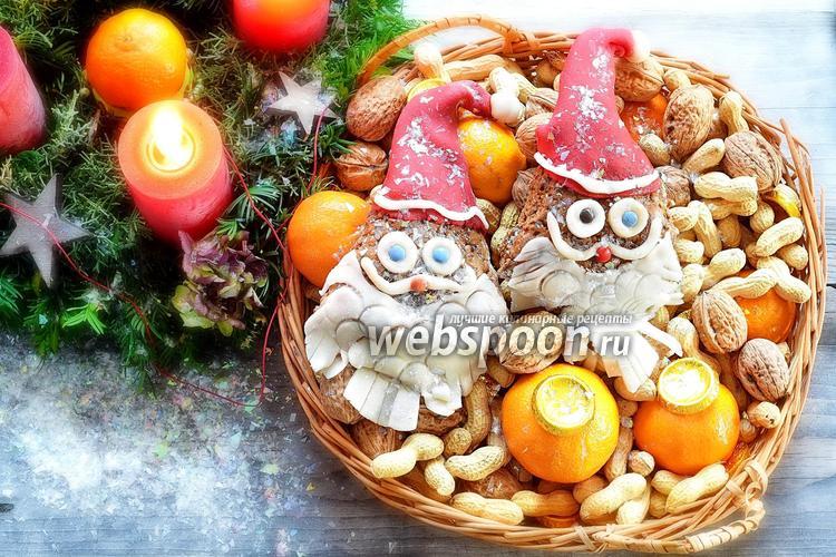 Фото Лебкухен Санта-Клаус с ореховой начинкой