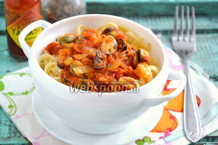 Фото Паста с мидиями в томатном соусе