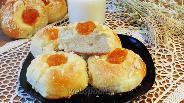 Фото рецепта Булочки со штрейзелем, творогом и повидлом