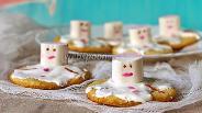 Фото рецепта Печенье «Растаявший снеговик»
