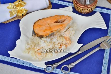 Кета с рисом в духовке
