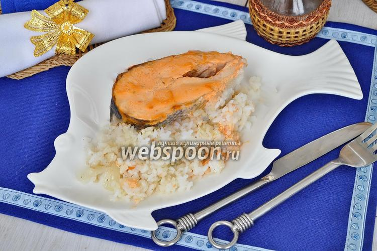 Фото Кета с рисом в духовке