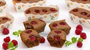 Фото рецепта Шоколадно-миндальные финансье с малиной