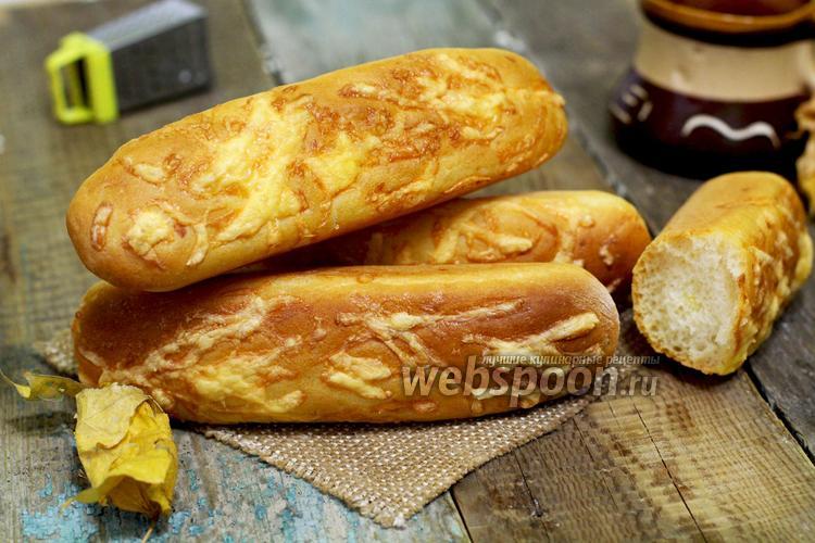 Фото Багеты с сыром в хлебопечке