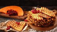 Фото рецепта Хрустящие тыквенные вафли
