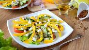 Фото рецепта Овощной салат с козьим сыром