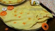 Фото рецепта Блины с морковью «звёздные»