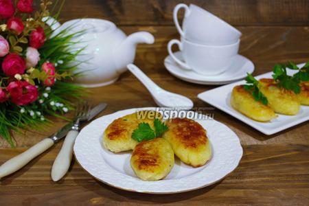 Картофельные зразы с колбасой
