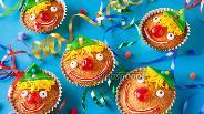 Фото рецепта Детские маффины «Клоун»